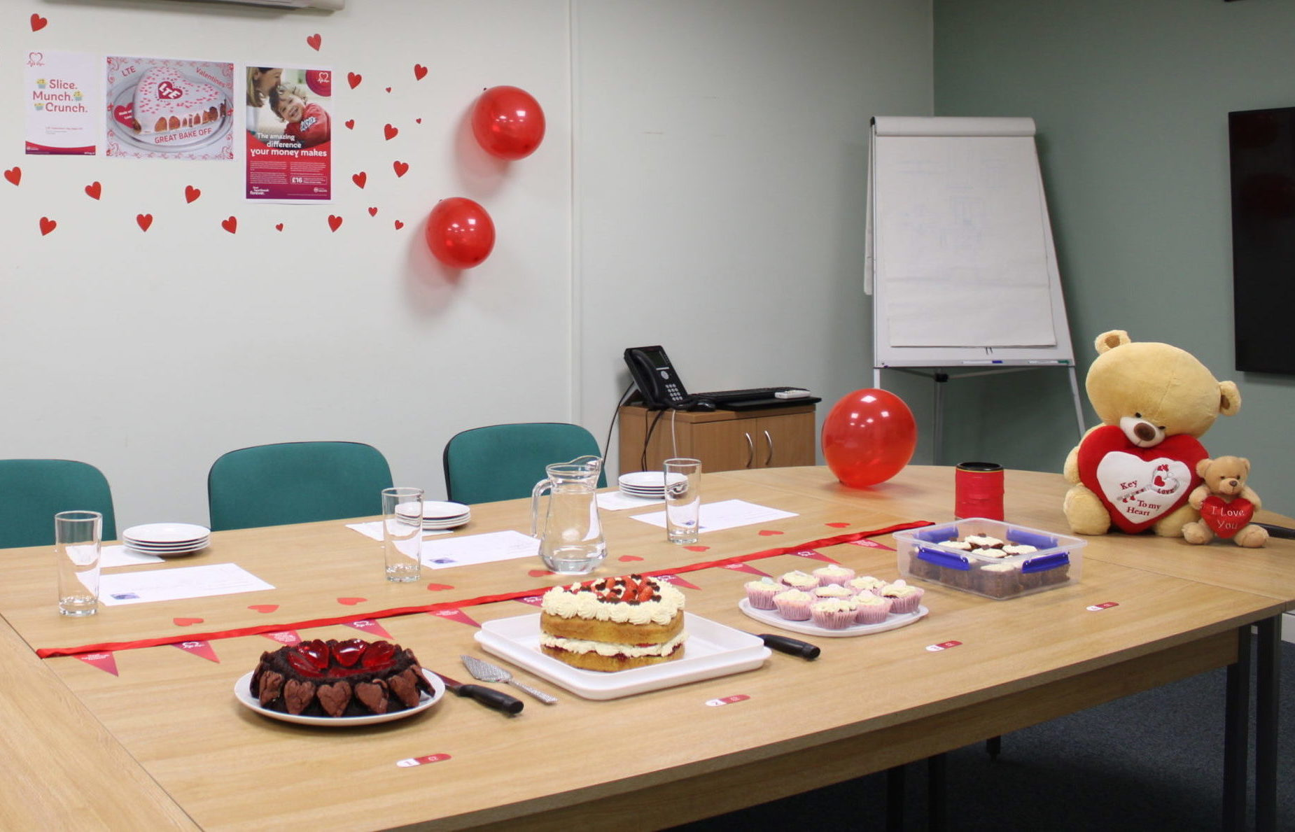 LTE Bake Off judging table